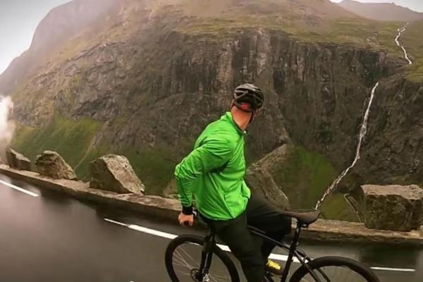 50 mph Bike Ride Down a Mountain, in The Rain, Backwards!